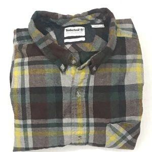 Timberland Men's Plaid Heavy Flannel Shirt